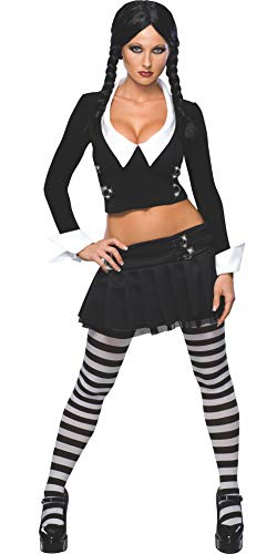 Addams Family Secret Wishes Wednesday Addams Costume, Black, M (6/10) -