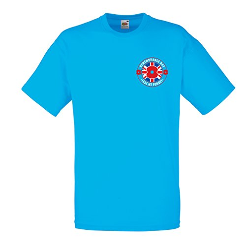 T Shirts For Men For 11 Th Of November   Remembrance Day Poppy   Lest We Forget   Xx Large Blue Multi Color