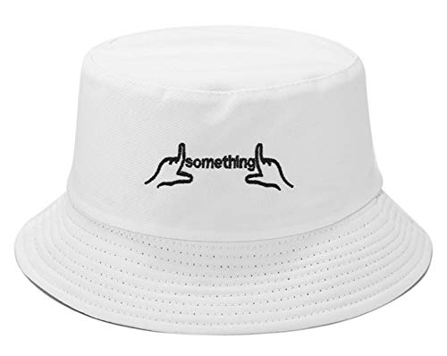 Embroidered Bucket Hats Personalized Fisherman Cap for Men, Women, Packable Reversible Sun Hat Black]()