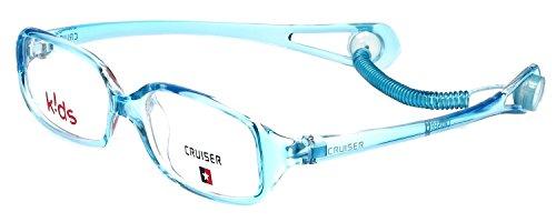 Cruiser Kids Designer Reading Glasses with Elastic Headstrap 2889 in Crystal-Teal - Glasses Kids Designer Prescription