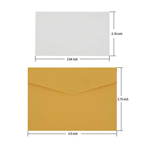 Colorful Envelopes with White Blank Business Cards - 150Pcs Pocket Envelopes by Apoulin (Image #1)