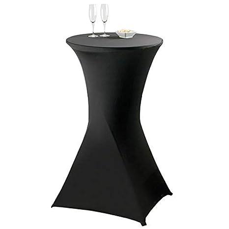Probache - Housse Noire pour Table Haute Pliante Mange Debout