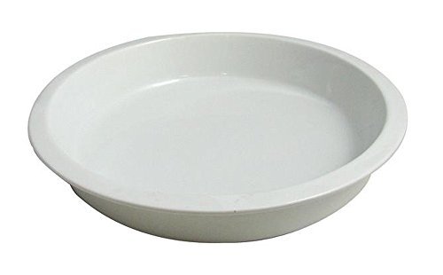 Bon Chef 5073 Aluminum 1/2 Round Food Pan, 3-1/2 quart Capacity, 15'' Length x 7-1/2'' Width, Sandstone White by Bon Chef