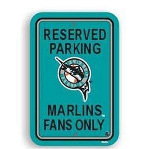 Florida Marlins Sports Team Parking Sign