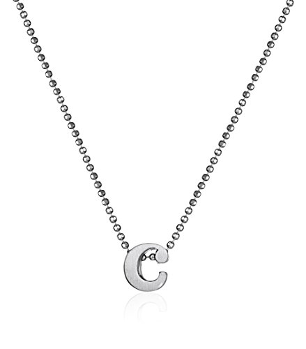 Alex Woo Sterling Silver Little Letter ''C'' on Chain Pendant Necklace, 18'' by Alex Woo