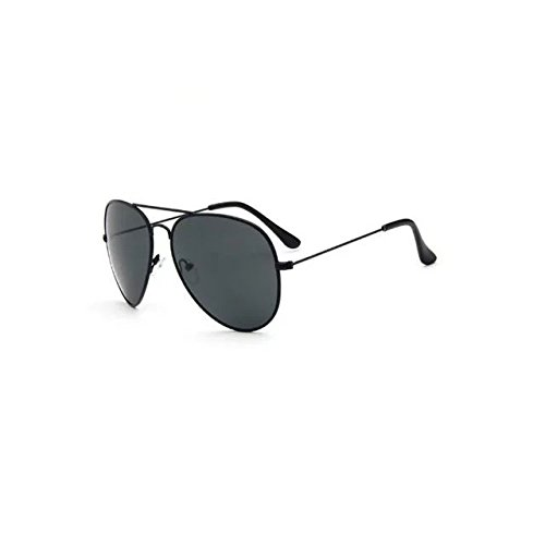 Garrelett Retro Classic Outdoor Sunglasses Reflective Sun Eyewear Eyeglasses Metal Black Frame Grey Lens for Men - Miu Outlet Store Miu