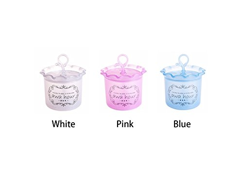 Hezon 5Pcs Plastic Cleansing Face Bubble Bag Bubble Net Beating Cup(Pink) EASY TO USE