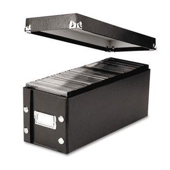 Snap-N-StoreTM CD Storage Box STORAGE,BOX,CD,SNPNSTR,BK (Pack of15)