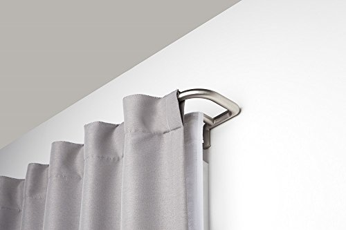Umbra Twilight Double Curtain Rod Set – Wrap Around Design is Ideal for Blackout Curtains or Room Darkening Curtains, 88 to 144 Inch, Matte Nickel
