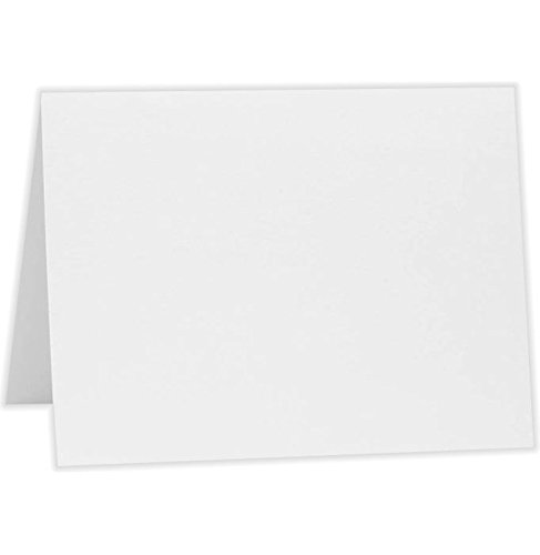 #17 Mini Folded Card (2 9/16 x 3 9/16) - 80lb. Bright White (50 Qty.) | Perfect for Personal Stationery, Business Correspondence, Invitation Inserts, and more! | 17MFW-50