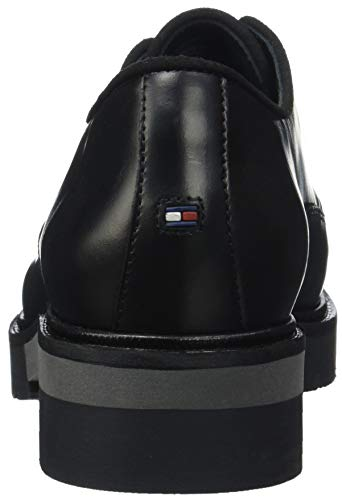 Nero Metallic Scarpe Leather Black Tommy Donna Lace Hilfiger Derby 990 Up Stringate C4c55znFW