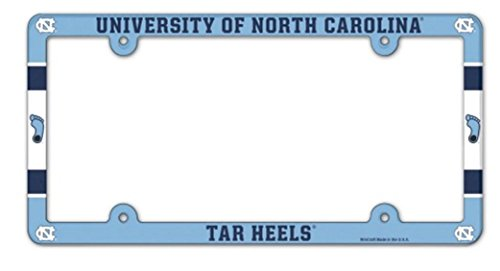 WinCraft NCAA University North Carolina Tarheels 6x12 inch Full Color Plastic License Plate Frame