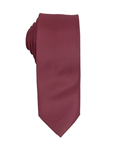 3 Pieces Poly Satin Solid Slim Tie - Lorenzo Polyester Tie