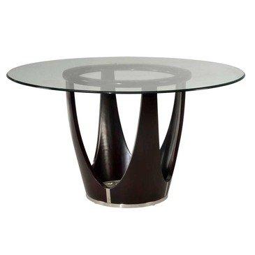Amazoncom Bassett Mirror Baxter Inch Round Glass Top Dining - 54 inch glass top round dining table