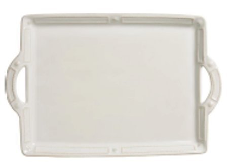 Juliska Berry & Thread French Panel White Handled Tray Platter 19