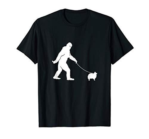 Bigfoot Fun Pomeranian Shirt Funny Cute Sasquatch Dog Gift