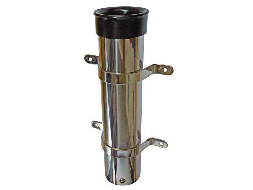 (Five Oceans Marine Side Mount Fishing Rod Holder, Stainless Steel FO-133)