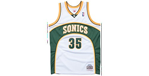 Mitchell & Ness Kevin Durant Seattle Supersonics NBA Throwback Jersey White ()