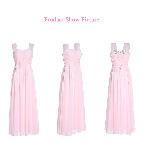 Noche Honor Dama Sección Novia De Hombro Atractiva Smilinggirl Pink La Larga Tostadas Del Gasa Vestido 8Exwz