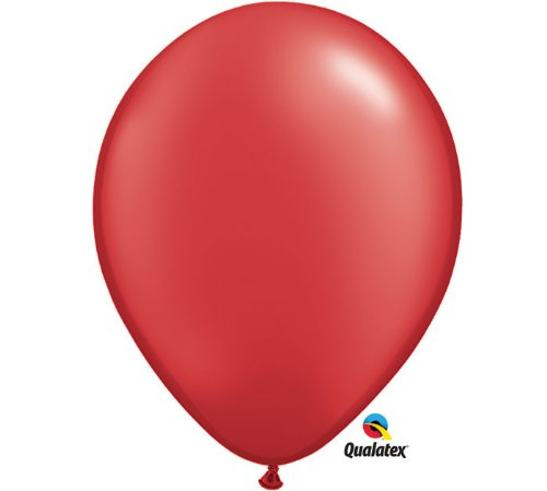 """Qualatex 11"""" Round Balloons, Radiant Colors - Pearlized (Ruby Red Pearl)"""
