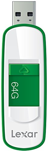 Lexar JumpDrive S75 64GB USB 3.0 Flash Drive - LJDS75-64GABNL (Green)