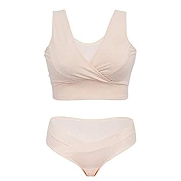 45e4ebe8267 Image Unavailable. Image not available for. Color  Women Maternity Nursing  Bra+Pants Underwear Set Breastfeeding Bra for Pregnant Pregnancy Feeding  Briefs ...
