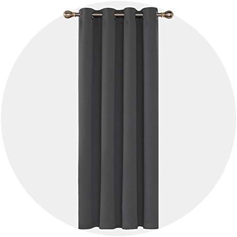 Deconovo Tenda Camera da Letto Oscurante Termica con Occhielli per Casa Moderne Grigio Scuro 140×260 CM Un Pannello