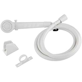 Dura Faucet DF-SA130-WT RV Shower Head and Hose Kit (White)