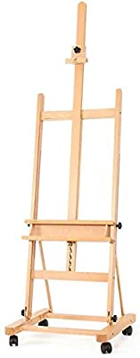 YAGEER Easel Stand Floor Large Oil Painting Oil Painting own Floor Display Frame Woodcut Painting Chinese Painting Booth Advertising Large Display Stand can Paint HUAJI