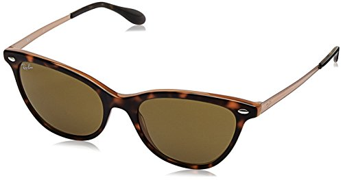 Ray-Ban Women's Acetate Woman Cateye Sunglasses, Top Havana on Light Brow, 54 - Ray Cat Ban Women Eye Sunglasses