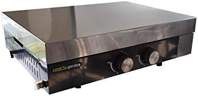 Cook'in Garden AC092 Capot de protection plancha FINESTA 2 BRÛEURS (61 cm), INOX