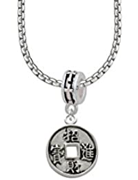Chinese Coin Cross Bead Necklace