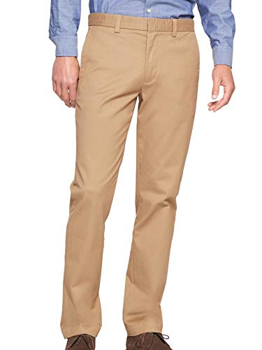 Banana Republic Mens Techmotion Aiden-Fit Stretch Chino Pants Airforce Khaki Beige (33W x 30L) from Banana Republic