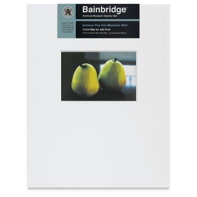 """Nielsen Bainbridge PRE-Cut Landscape 11""""X14"""" ARTCARE White MAT with 4""""X6"""" Opening"""