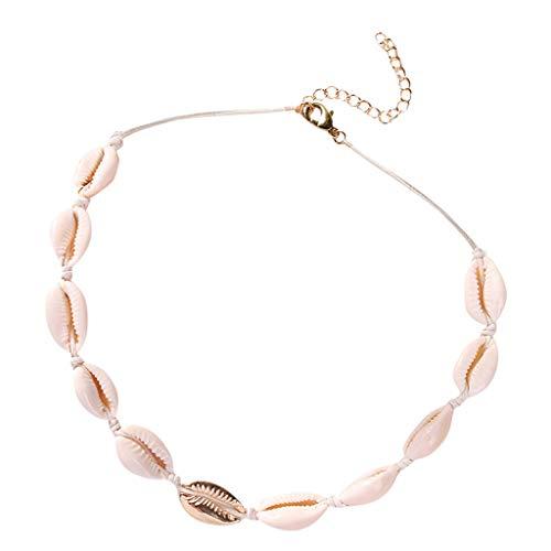 JMETRIE ☘ Jewelry Wholesale, Vintage Shell Necklace Hawaiian Beach Adjustable Choker Pendants for Women Girls Gift
