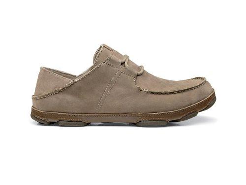 OluKai Ohana Cordones Nobuck Zapatos–Hombre Clay/Mustang