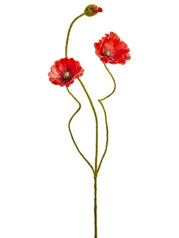 Amazon Afloral Red Poppy Silk Flowers 2425 Tall Home Kitchen