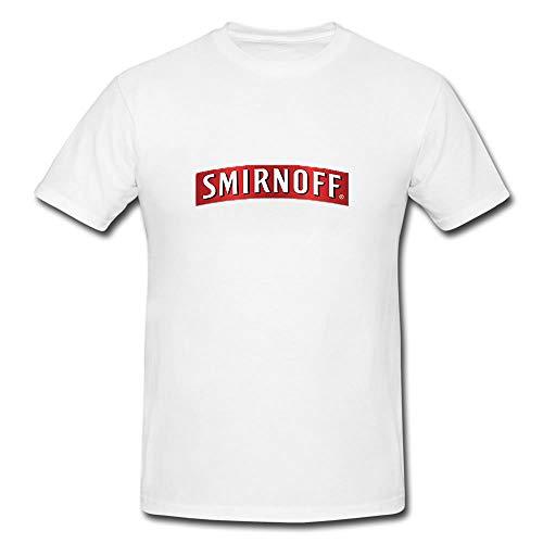(Smirnoff Alcohol Vodka Drink T-Shirt Design - Modern Look - Eye-Catching T-Shirt (Medium) White)