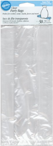 Wilton 1912-1239 Clear Tall Treat Bags, 4 × 9½, by Wilton