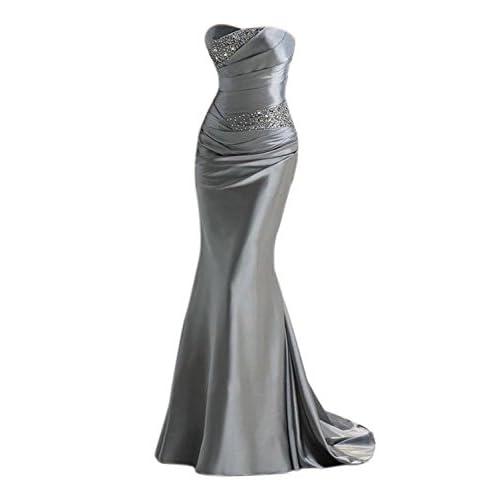 4073d11b47861 Babyonlinedress Vestido largo de gala para fiesta de noche y boda estilo  sirena y elegante material