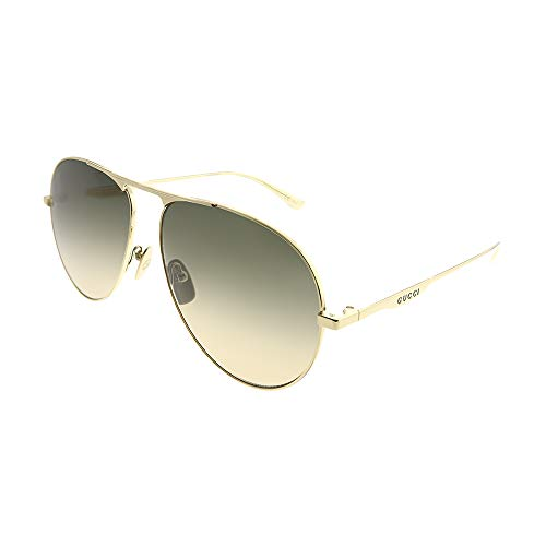 Gucci GG0334S 001 Brown Aviator Sunglasses ()