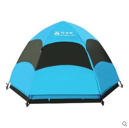 Zelt Outdoor Automatische 3–4 Personen Camping Camping Ausrüstung, doppelt Sechskant Zelten