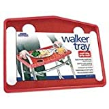 Rose Healthcare Walker Tray with Non-Slip Grip Mat - Red, One-Size