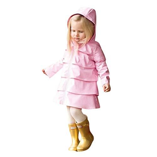 Lucoo Girl's Coat,Toddler Kids Baby Boys Girls Hooded Zip Windbreaker Tops Rain Jackets Coat