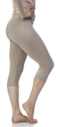 047800d9b9318 ... Lush Moda Women's Basic Capri Leggings with Yoga Waist- Extra Soft and  Variety of ...