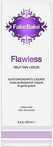 Fake Bake Flawless Self-Tan Liquid, 6 fl oz (2-Pack) (White Pigment Spots On Skin After Tanning)