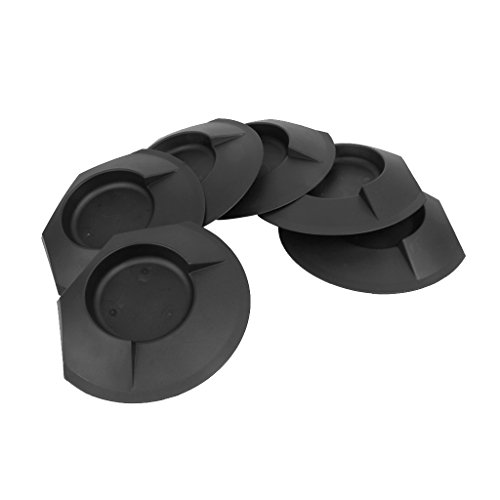 6Pcs Plastic Golf Putting Cup Practice Home Backyard Training Accessory Black