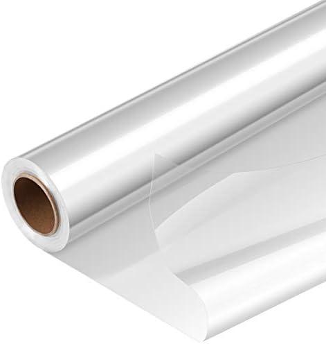 STOBOK 1 Roll 2 5 Mil Dikke Cellofaan Wrap Transparante Bloemen Manden Voedsel Crystal Omhulsels Papier Voedsel Veilig Transparant