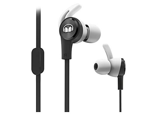 Monster iSport Achieve In-Ear Sports Headphones with Microphone in Black, Running, Sweatproof
