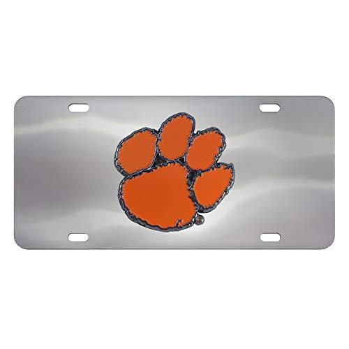 6dbdde87c2d9 Clemson Tigers Diecast Paw Print 3 D Logo License Plate
